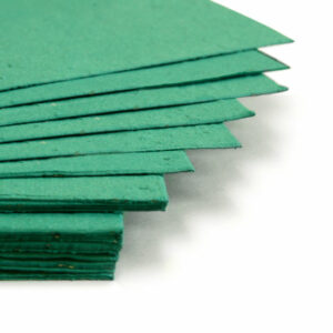 This eco-friendly 11 x 17 Teal Plantable Seed Paper is embedded with wildflower seeds.