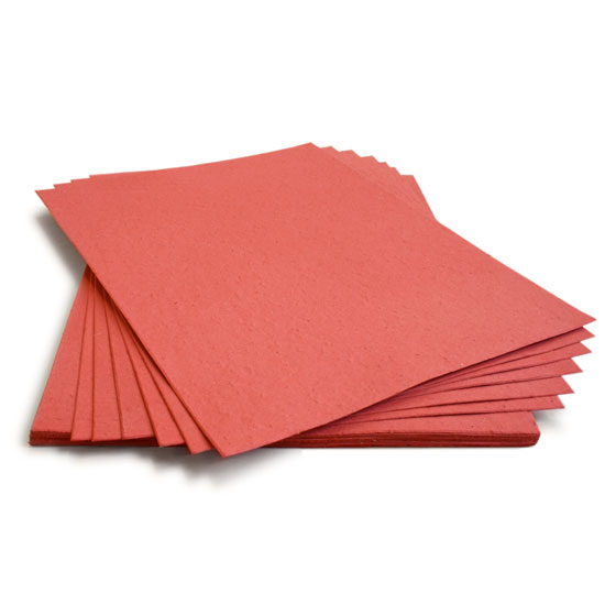 This 8.5 x 11 Brick Red Plantable Seed Paper grows wildflowers when planted!