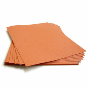 Grow a bouquet of wildflowers with this 8.5 x 11 Burnt Orange Plantable Seed Paper.