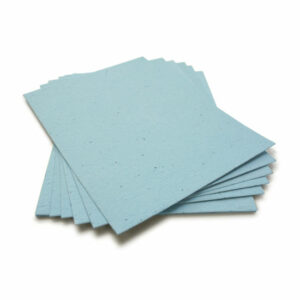 Grow wildflowers when you plant this 8.5 x 11 Cornflower Blue Plantable Seed Paper.