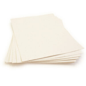This eco-friendly 8.5 x 11 Cream Plantable Seed Paper is embedded with wildflower seeds.