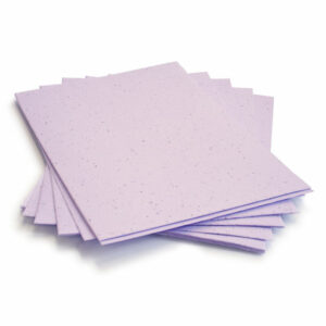 This eco-friendly 8.5 x 11 Pastel Lavender Plantable Seed Paper is embedded with wildflower seeds.