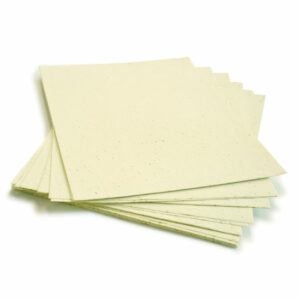 When this 8.5 x 11 Pastel Yellow Plantable Seed Paper is planted, it grows a bouquet of wildflowers.