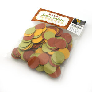 Decorate your Thanksgiving table with this eco-friendly Autumn Circle Plantable Seed Paper Confetti.
