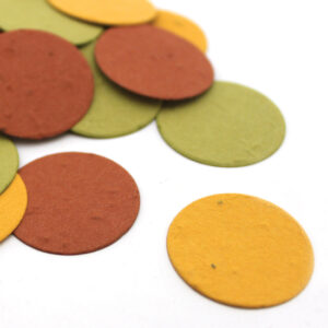 Decorate your Thanksgiving table with this eco-friendly biodegradable confetti in autumn colors.