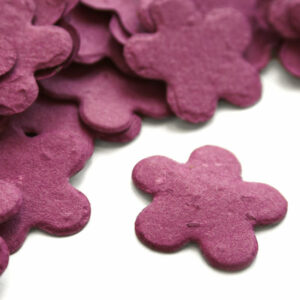 When thrown outside, this biodegradable confetti will grow wildflowers!