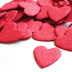 When thrown outside, this Plantable Confetti in Bright Red will grow into wildflowers.