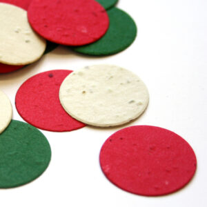 This  biodegradable confetti is a cheery and eco-friendly way to add some color to your holidays.