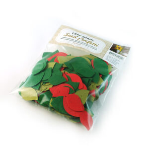 This eco-friendly Christmas Leaf Plantable Seed Paper Confetti is a colourful and festive confetti that composts into flowers!