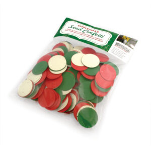 This Christmas Circle Plantable Seed Paper Confetti is a cheery and eco-friendly way to add some color to your holidays.