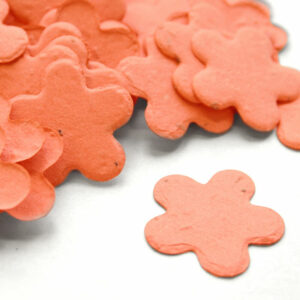 This coral biodegradable confetti is eco-friendly, fun and so memorable.