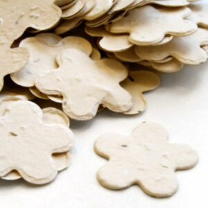 When thrown outside,i cream biodegradable confetti will grow wildflowers.