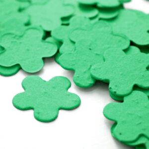 This eco-friendly biodegradable confetti is perfect for weddings or for baby shower favors.