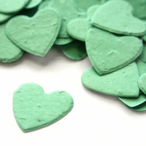 This heart shaped biodegradable confetti in aqua is eco-friendly, fun and so memorable!