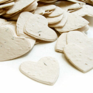 This cream biodegradable confetti is eco-friendly, fun and so memorable!