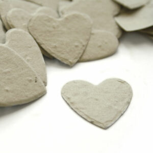 This heart shaped biodegradable confetti is perfect for an eco-friendly wedding.