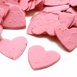 Guests can plant this hot pink biodegradable confetti to grow wildflowers.