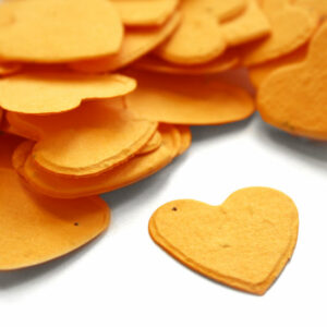 This heart shaped marigold yellow biodegradable confetti is eco-friendly, fun and so memorable!