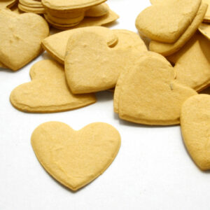 This heart shaped  biodegradable confetti in mustard yellow will grow wildflowers when planted!