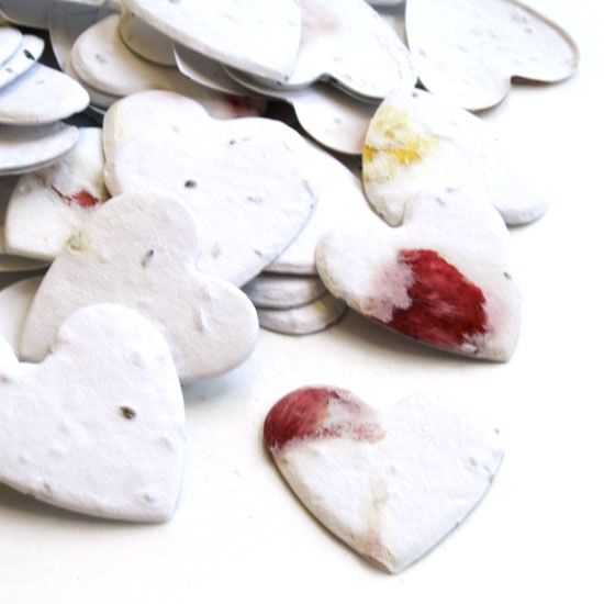 This biodegradable confetti is eco-friendly, fun and full of flowers!