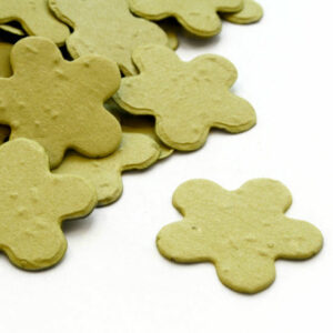This biodegradable confetti is perfect for eco-friendly weddings, or for green baby shower favors.