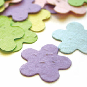 This Biodegradable Confetti in pastel colors is perfect for an eco-friendly wedding or baby shower..