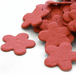 This brick red biodegradable confetti is perfect for an eco-friendly wedding.