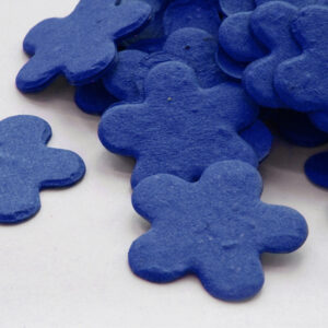 This biodegradable confetti in royal blue is perfect for an eco-friendly wedding.