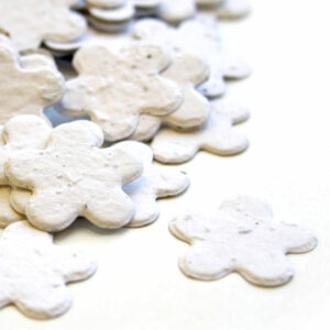 This biodegradable confetti in White is eco-friendly, fun and memorable!