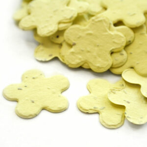 When thrown outside, this biodegradable confetti embedded with seeds will grow wildflowers.