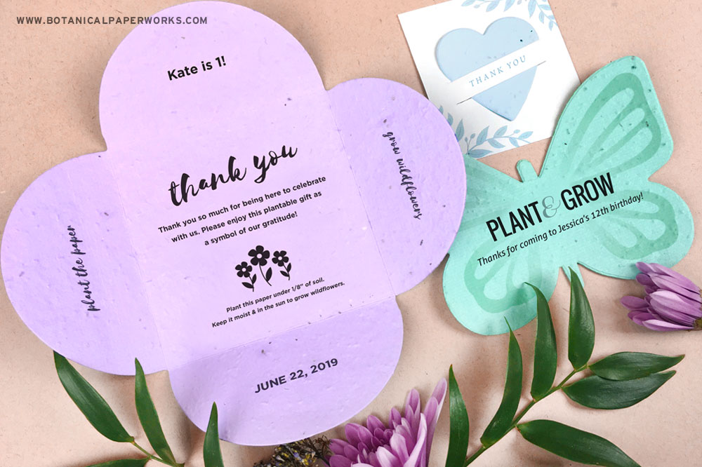 plantable seed paper party favors