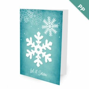 Celebrate winter and the holiday season by sharing this business holiday card featuring a seed paper snowflake that grows fresh basil!