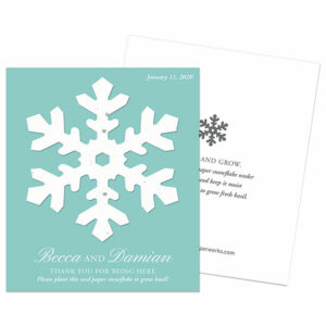 A gift that grows basil for winter weddings!