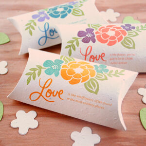 These Plantable Wedding Favor Pillow Boxes are a beautiful, eco-friendly way to package your favors.