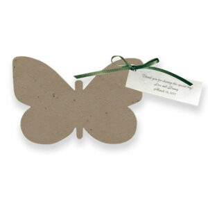 Grow wildflowers with these Butterfly Plantable Wedding Favors.