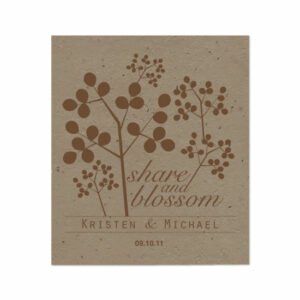 Grow wildflowers right out of the paper with these Celebration Grow, Share Plantable Wedding Favors.