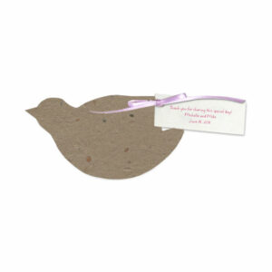 These Dove Plantable Favors grow wildflowers when planted.