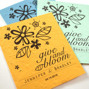These Celebration Grow, Give Plantable Favors grow wildflowers right out of the seed paper!