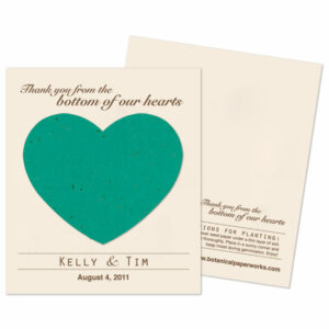 Plant these Heart Plantable Wedding Favors and wildflowers will grow!