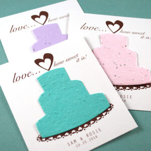 Grow wildflowers with these Sweet Love Pastel Plantable Wedding Favors!
