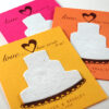 Wildflowers will grow right out of the plantable paper on these Sweet Love Bright Plantable Wedding Favors.