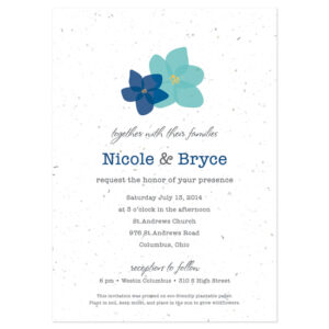 Grow flowers with these Modern Duo Plantable Wedding Invitations.