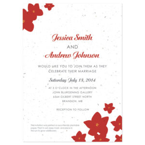 Grow flowers with these Petite Garden Plantable Wedding Invitations.