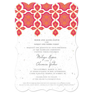 Your guests can plant these Indian Motif Plantable Wedding Invitations to grow beautiful wildflowers.