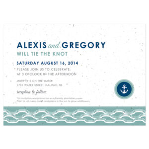 These Nautical Plantable Wedding Invitations will grow wildflowers when planted.