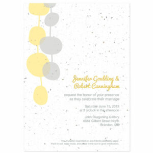 Each of these Retro Lanterns Plantable Wedding Invitations will grow a beautiful bouquet of wildflowers when planted.
