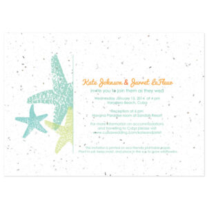 These Starfish Plantable Wedding Invitations make a great eco-friendly addition to your destination wedding!
