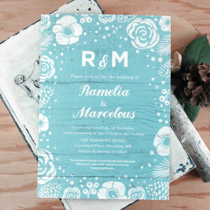 Designed for rustic winter weddings, these stunning plantable wedding invitations are a beautiful way to set the mood and charm your guests.