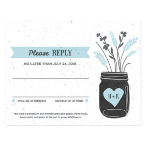 You can plant these Prairie Love Seed Paper Reply Cards to grow a beautiful garden of wildflowers.
