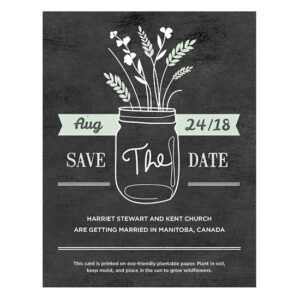 Your wedding guests will be able to grow their own prairie-inspired wildflowers with these Prairie Love Seed Paper Save The Date Cards.